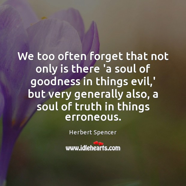 We too often forget that not only is there 'a soul of Image