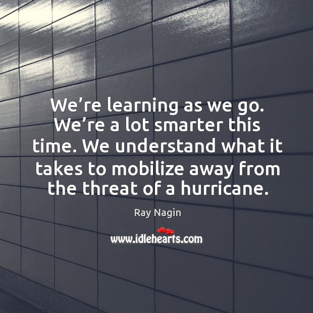 We understand what it takes to mobilize away from the threat of a hurricane. Image