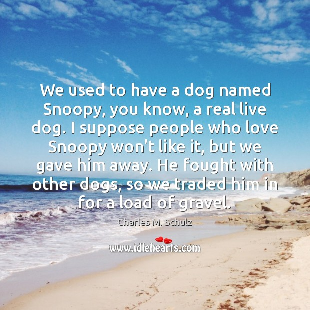 We used to have a dog named Snoopy, you know, a real Image