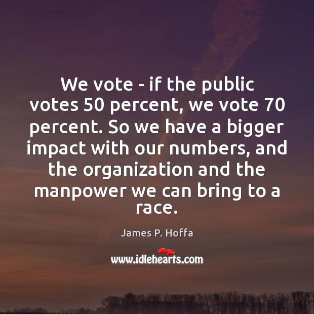 We vote – if the public votes 50 percent, we vote 70 percent. So Image