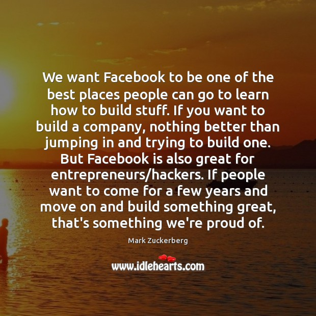 Image, We want Facebook to be one of the best places people can