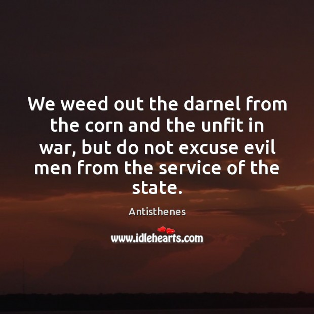 Image, We weed out the darnel from the corn and the unfit in