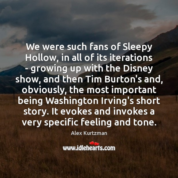 Image, We were such fans of Sleepy Hollow, in all of its iterations