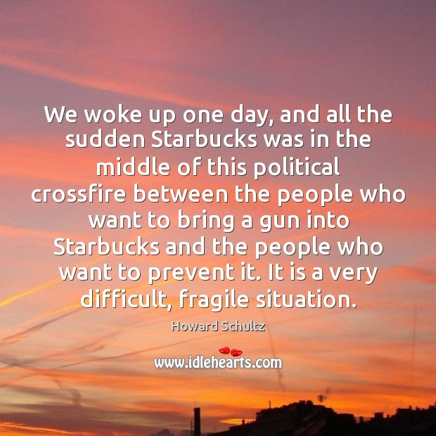 We woke up one day, and all the sudden Starbucks was in Image