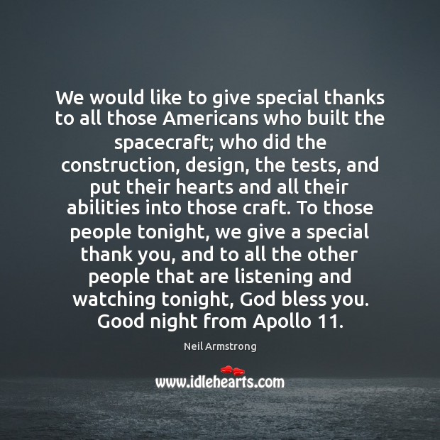 We would like to give special thanks to all those Americans who Image