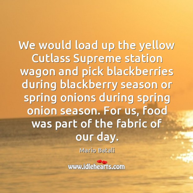 We would load up the yellow cutlass supreme station wagon and pick blackberries during blackberry Image