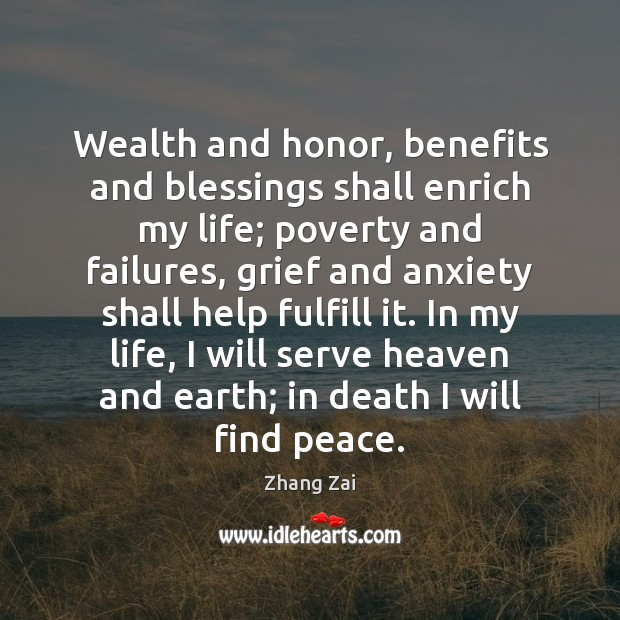 Wealth and honor, benefits and blessings shall enrich my life; poverty and Image
