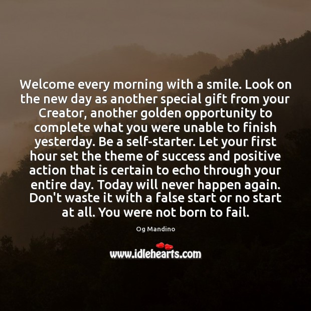 Welcome every morning with a smile. Look on the new day as Image