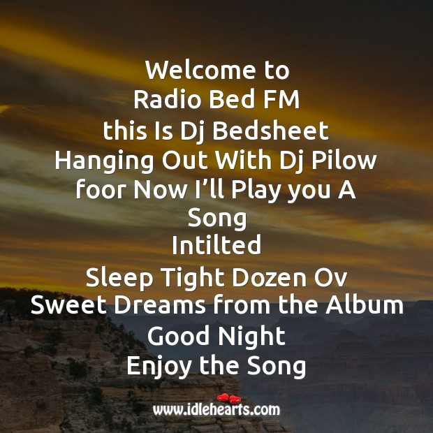 Image, Welcome to radio bed fm