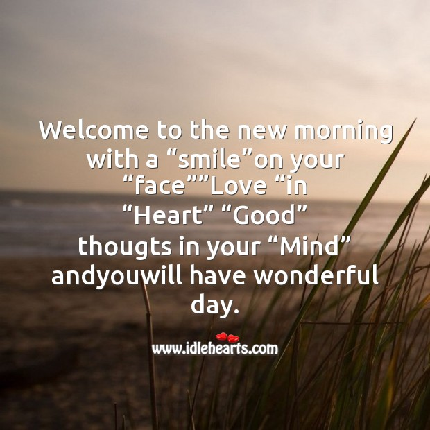 Welcome to the new morning with Good Morning Messages Image