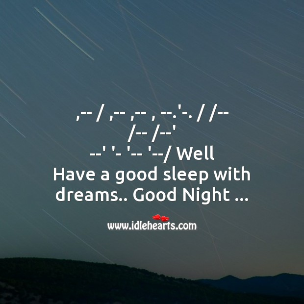 Image, Well   have a good sleep with dreams