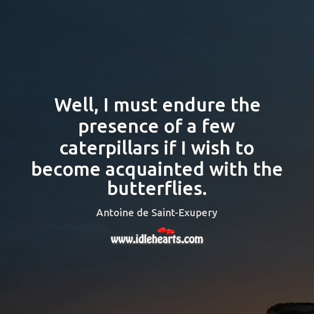 Well, I must endure the presence of a few caterpillars if I Image