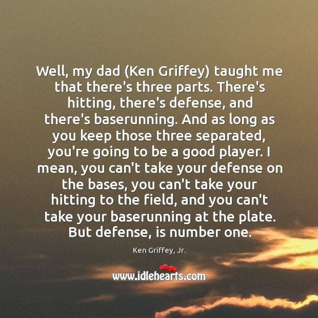 Well, my dad (Ken Griffey) taught me that there's three parts. There's Image
