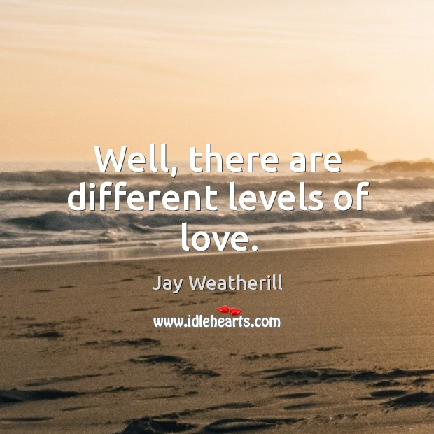 Well, there are different levels of love. Jay Weatherill Picture Quote