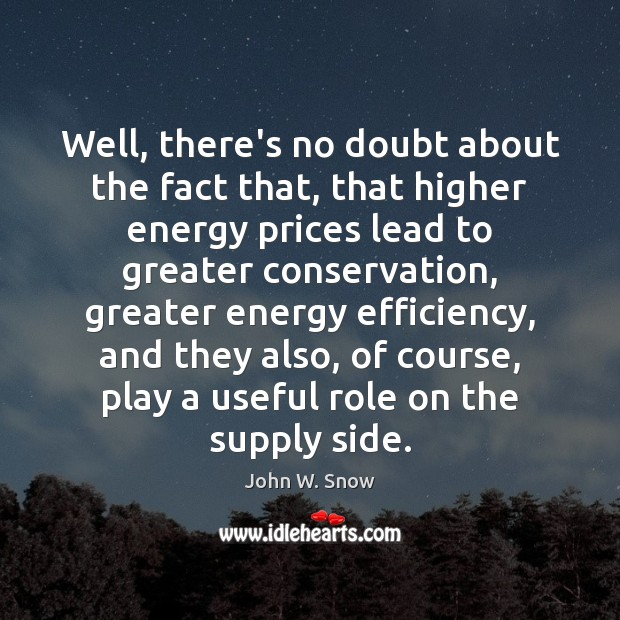 Well, there's no doubt about the fact that, that higher energy prices Image