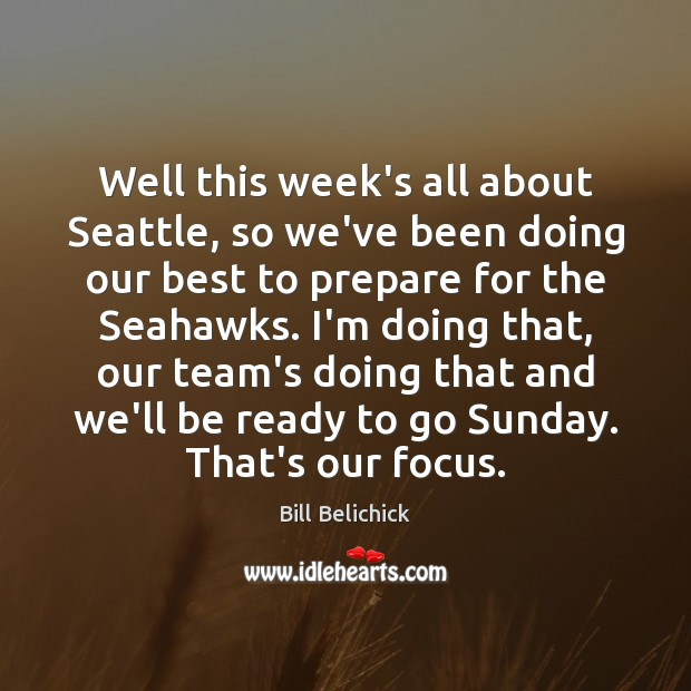 Image, Well this week's all about Seattle, so we've been doing our best