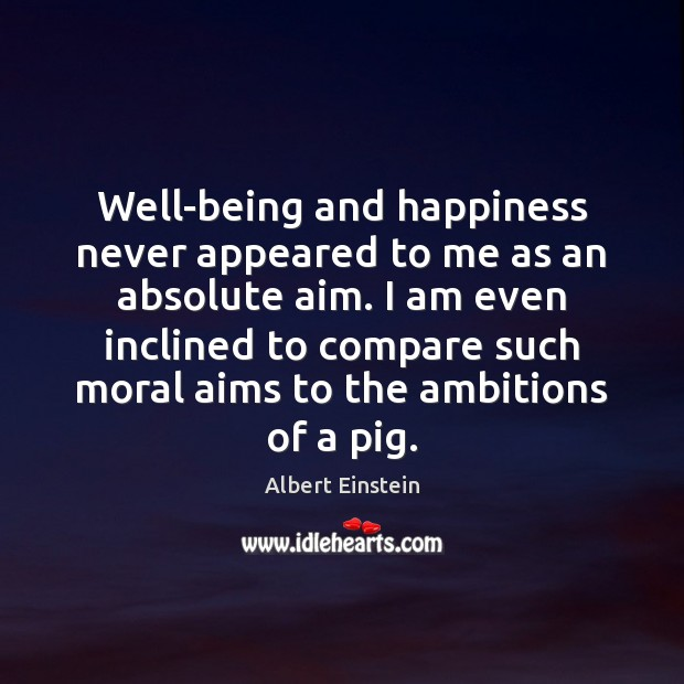 Image, Well-being and happiness never appeared to me as an absolute aim. I