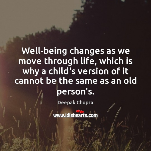 Well-being changes as we move through life, which is why a child's Image