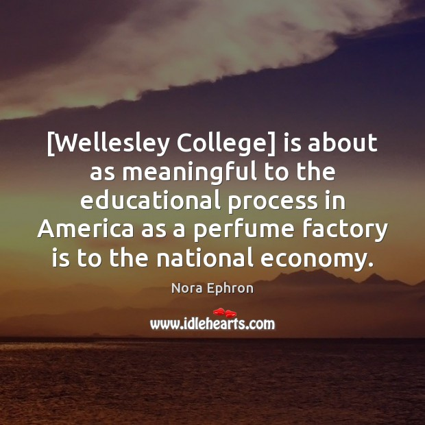 Image, [Wellesley College] is about as meaningful to the educational process in America