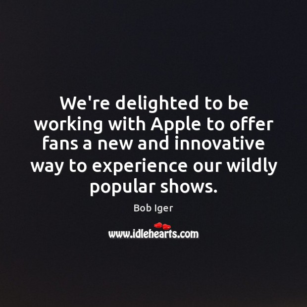 Image, We're delighted to be working with Apple to offer fans a new
