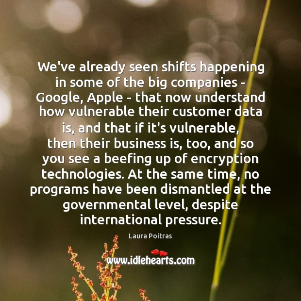 We've already seen shifts happening in some of the big companies – Data Quotes Image
