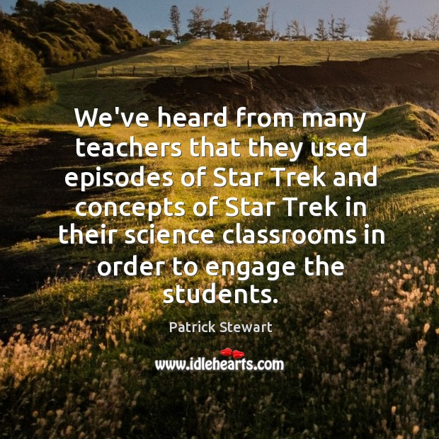 We've heard from many teachers that they used episodes of Star Trek Image