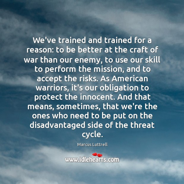 Image, We've trained and trained for a reason: to be better at the