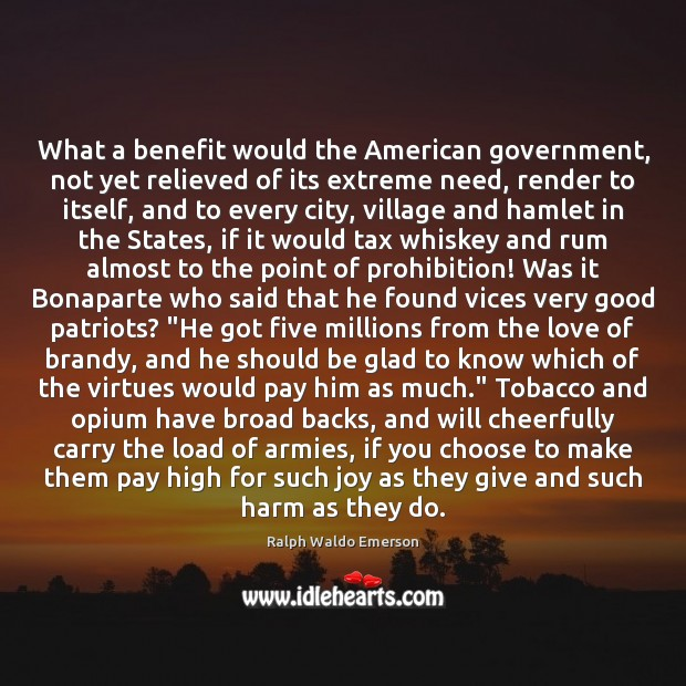 Image, What a benefit would the American government, not yet relieved of its