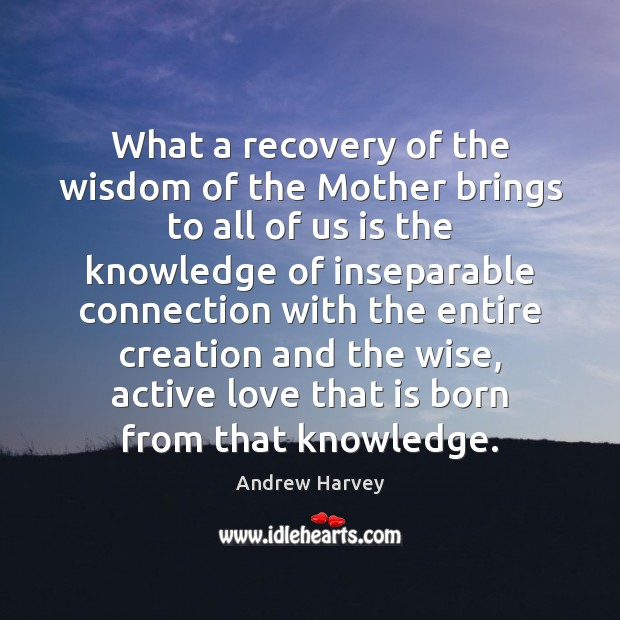 Image, What a recovery of the wisdom of the Mother brings to all