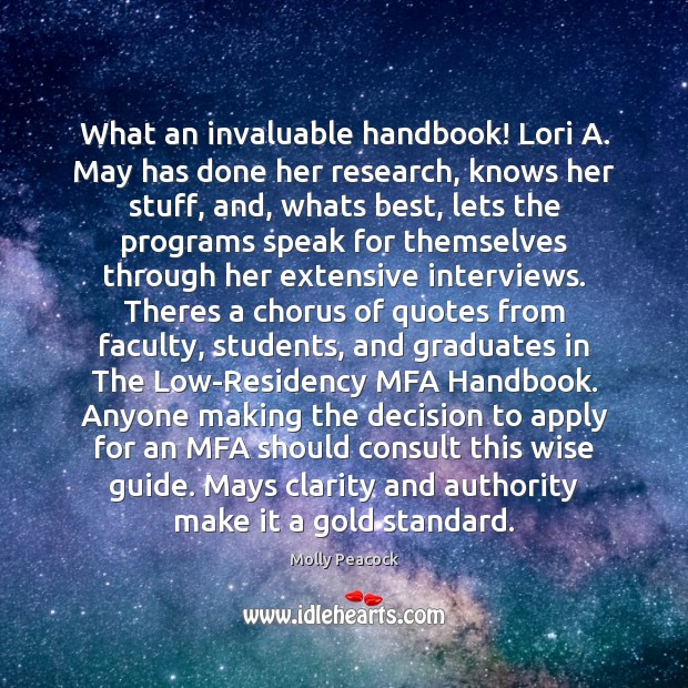 What an invaluable handbook! Lori A. May has done her research, knows Student Quotes Image