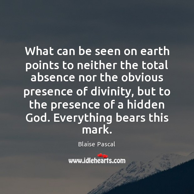 Image, What can be seen on earth points to neither the total absence