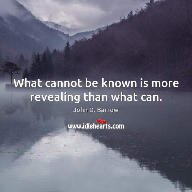 What cannot be known is more revealing than what can. Image