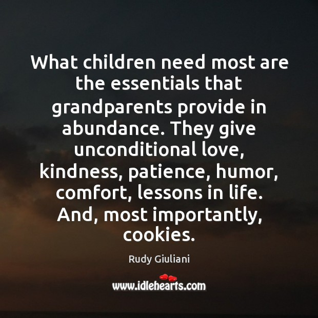 Image, What children need most are the essentials that grandparents provide in abundance.