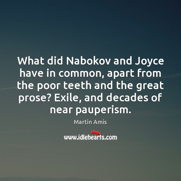 Image, What did Nabokov and Joyce have in common, apart from the poor