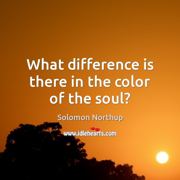 What difference is there in the color of the soul? Image