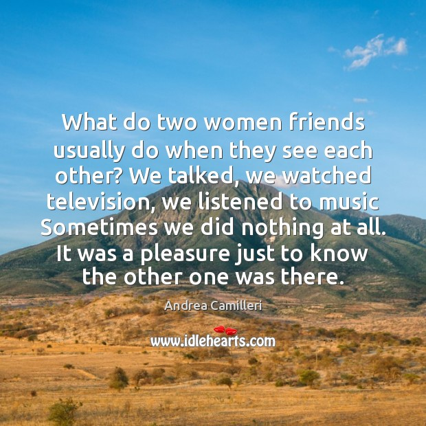 Image, What do two women friends usually do when they see each other?