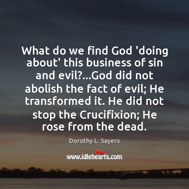 Image, What do we find God 'doing about' this business of sin and