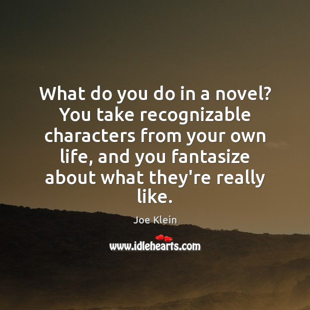 What do you do in a novel? You take recognizable characters from Image
