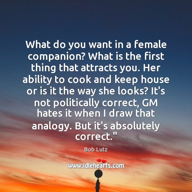 Image, What do you want in a female companion? What is the first
