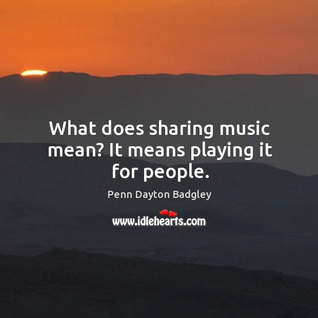 what does music mean to you