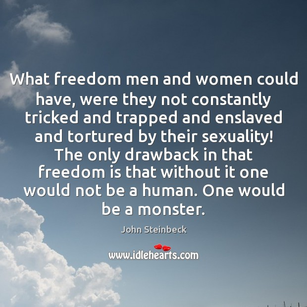 What freedom men and women could have, were they not constantly tricked Image