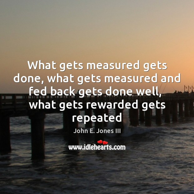 What gets measured gets done, what gets measured and fed back gets Image