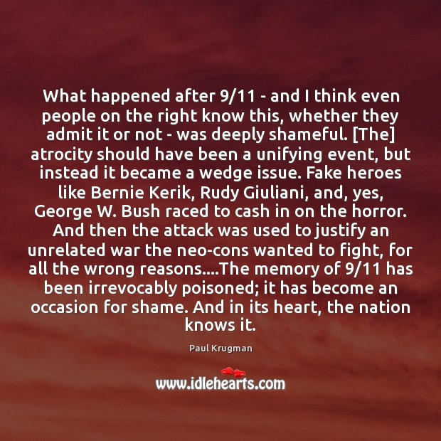 Image, What happened after 9/11 – and I think even people on the right