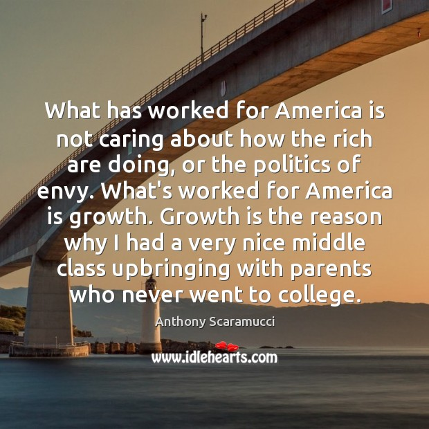 Image, What has worked for America is not caring about how the rich