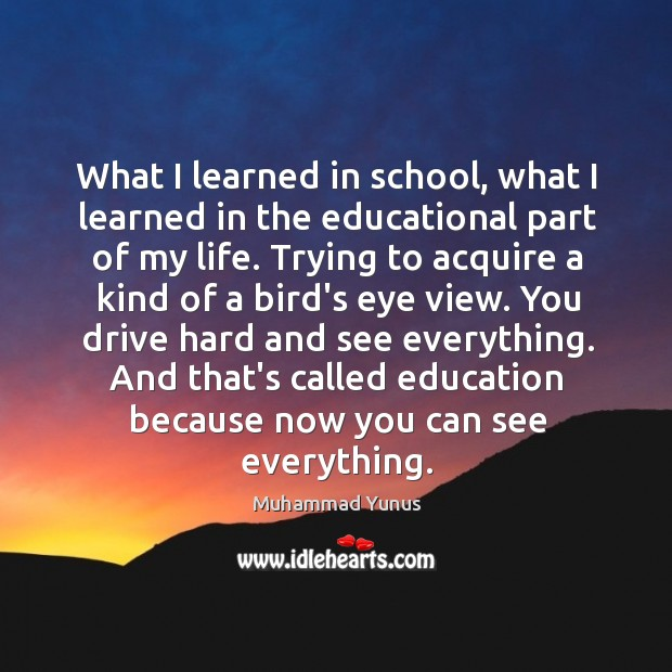What I learned in school, what I learned in the educational part Image