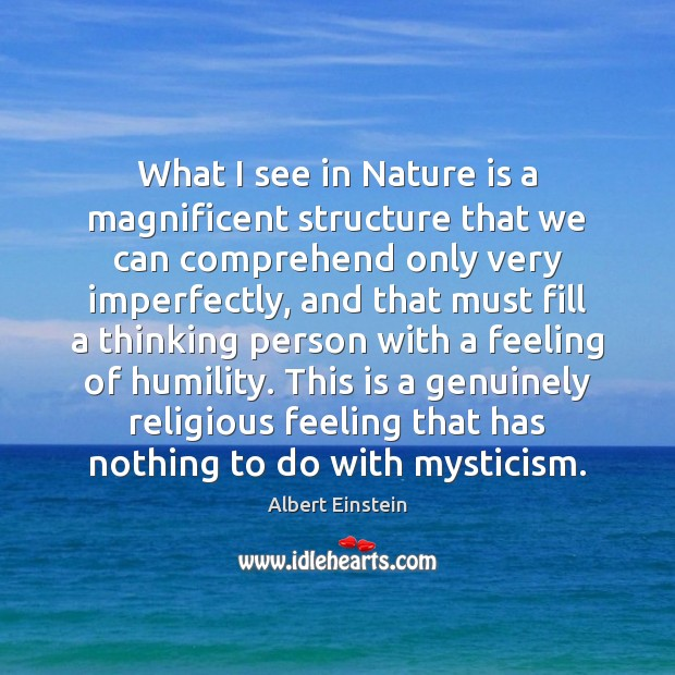 Image about What I see in Nature is a magnificent structure that we can