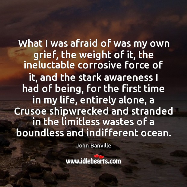 What I was afraid of was my own grief, the weight of John Banville Picture Quote