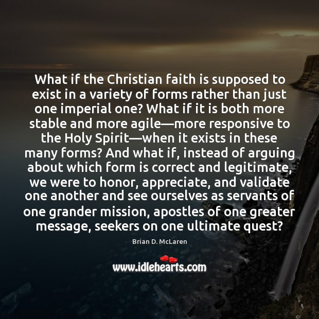 Image, What if the Christian faith is supposed to exist in a variety