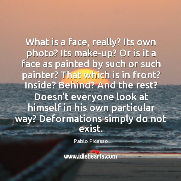 Image, What is a face, really? its own photo? its make-up? or is it a face as painted by such or such painter?