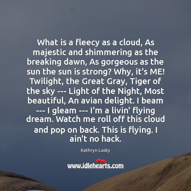 Image, What is a fleecy as a cloud, As majestic and shimmering as